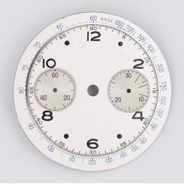 Cadran de chronographe Landeron 48, 33mm