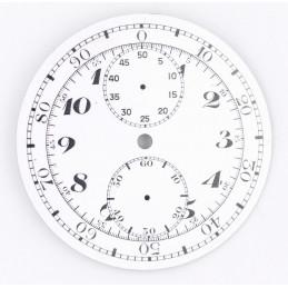 Cadran de chrono montre gousset 44,36mm