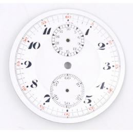 Cadran de chrono montre gousset 43,79mm