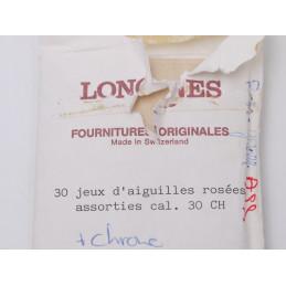 Set of Longines 30CH vintage chronograph hands