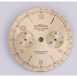 Landeron 48 chrono dial, diameter 33.5 mm