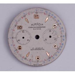 Cadran de chronographe Landeron 48  33.4mm