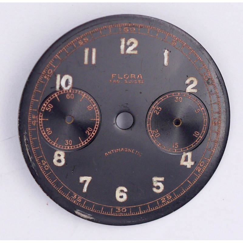 Landeron 48 chrono dial, diameter 30.5 mm