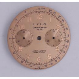 Cadran de chronographe Landeron 48 33.8mm