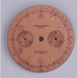Cadran de chronographe Landeron 48  34.5mm