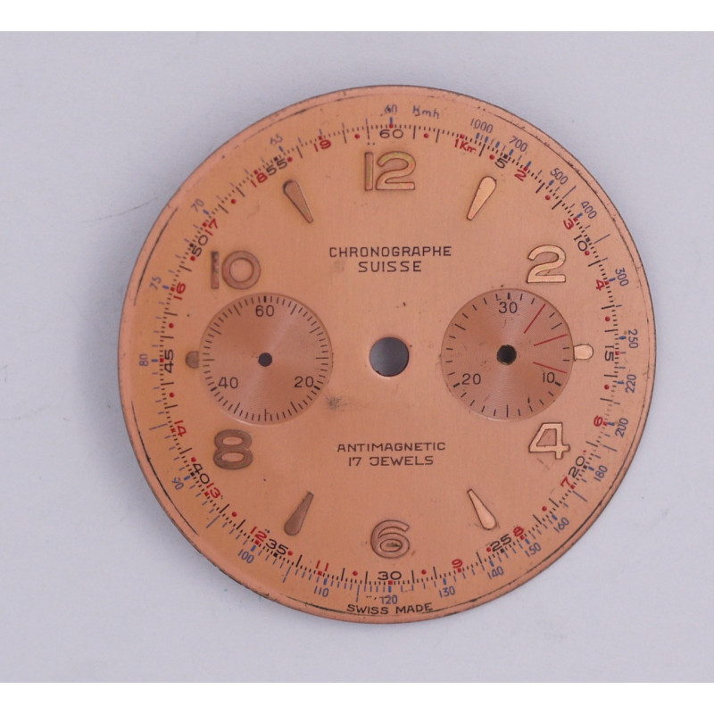 Landeron 48 chrono dial, diameter 34.8 mm
