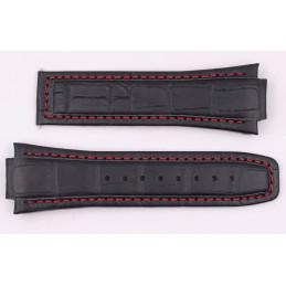 Bracelet cuir et tissu ALPINA 22mm