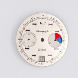 Valjoux 7734 chronograph dial diameter 31,50mm
