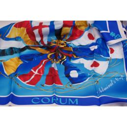 Silk scarf corum