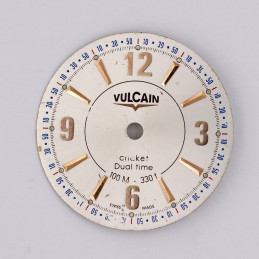 Vulcain Cricket Dual Time dial 30mm