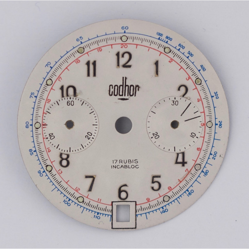 Landeron 187 chrono dial, diameter 31.5 mm