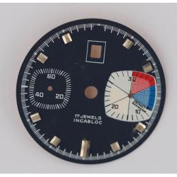 Cadran de chronographe Landeron 187  31.5mm
