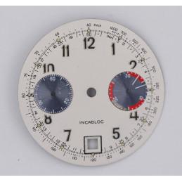 Cadran de chronographe pour valjoux 7734 diam 31mm