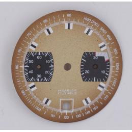 Cadran de chronographe pour valjoux 7734 diam 31.3mm