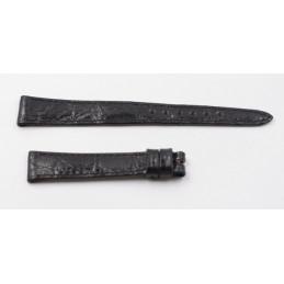 Bracelet Rolex cuir noir 13mm