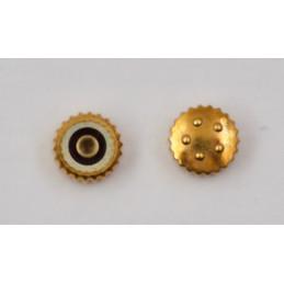 Eterna gold 18 kt crown 4mm