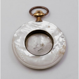 case pocket watch nacre