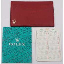 Porte cartes rolex 1986