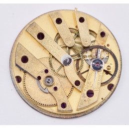 Vintage Vachron pocket watch movement & dial