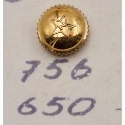 couronne ZENITH plaquée or jaune étanche 6,5 mm