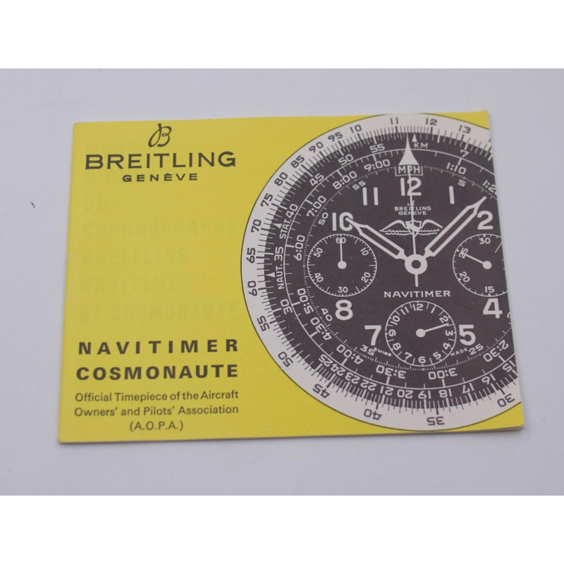 Breitling Service booklet for Chronomat in French