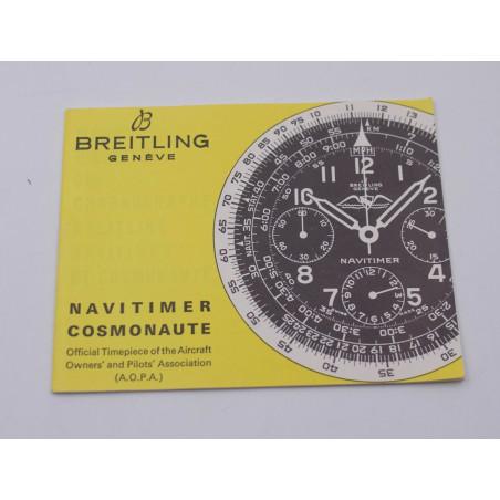 Breitling booklet for Navitimer 806