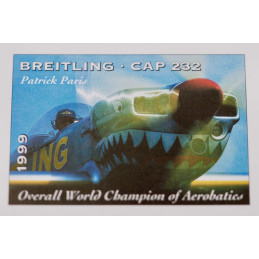 Breitling Cap 232 stamps board 1999