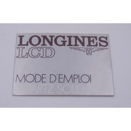 Longines quartz L729.2 manual instruction