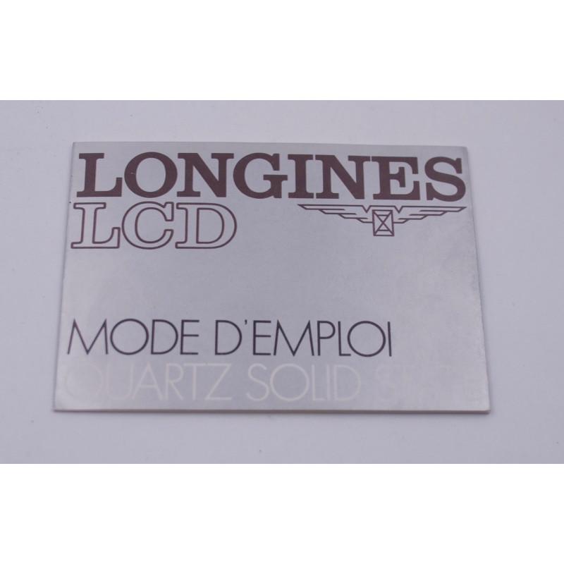 Longines quartz L729.2 manual instruction