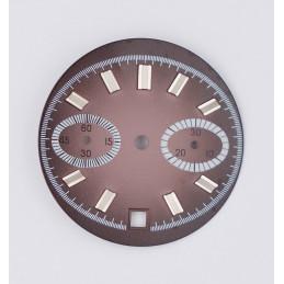 Cadran chronographe générique - diamètre 24,90 mm pour Valjoux 7734