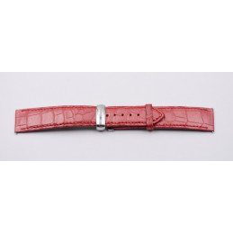 Bracelet POIRAY en croco avec boucle déployante