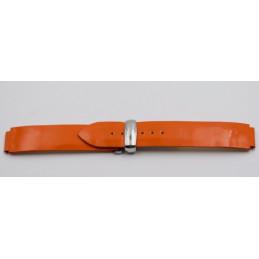 Bracelet POIRAY vernis orange avec boucle déployante
