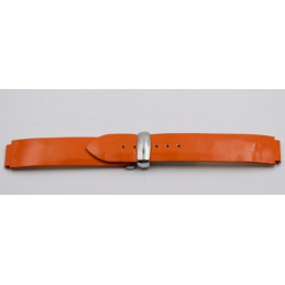 POIRAY varnished strap 18mm with deployant buckle