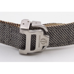 Baume et Mercier textile strap with folding buckle