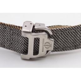 Baume et Mercier textile strap with folding buckle