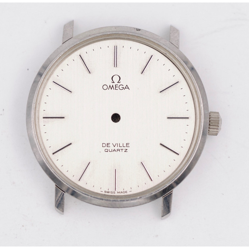 Omega steel watch case ref 191.0044 with dial