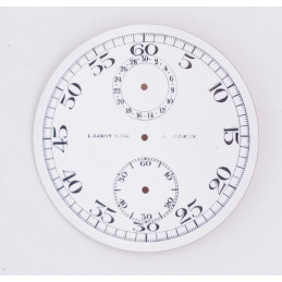 Pocket Watch chrono dial L Leroy & Cie 42 mm
