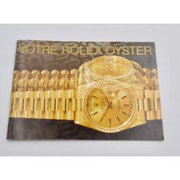 Livret Votre Rolex Oyster 1999