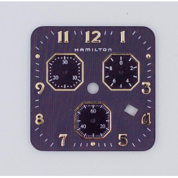 Cadran noir HAMILTON pour chronographe