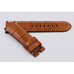 Bracelet croco rembordé 24mm