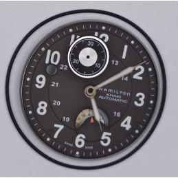 Black HAMILTON dial for valjoux 7750 chronograph