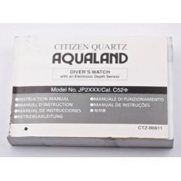 Instruction manual Citizen Quartz AQUALAND