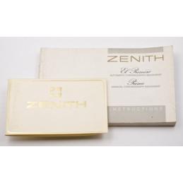 Instruction manual ZENITH El Primero