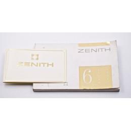 "ZENITH ""Serie 6"" Instruction manual"