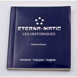 Instruction manual ETERNA .MATIC LES HISTORIQUES