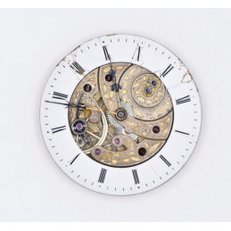 Skeleton pocket watch movement