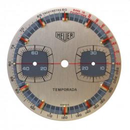Cadran de chronographe HEUER Temporada ancien - 31,42mm