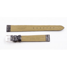 Longines crocodile strap with steel buckle 12mm