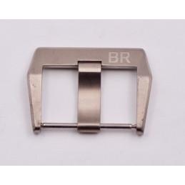 Boucle ardillon en acier poli BELL & ROSS 24mm
