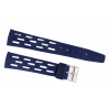Longines blue nubuck strap with steel buckle 19mm